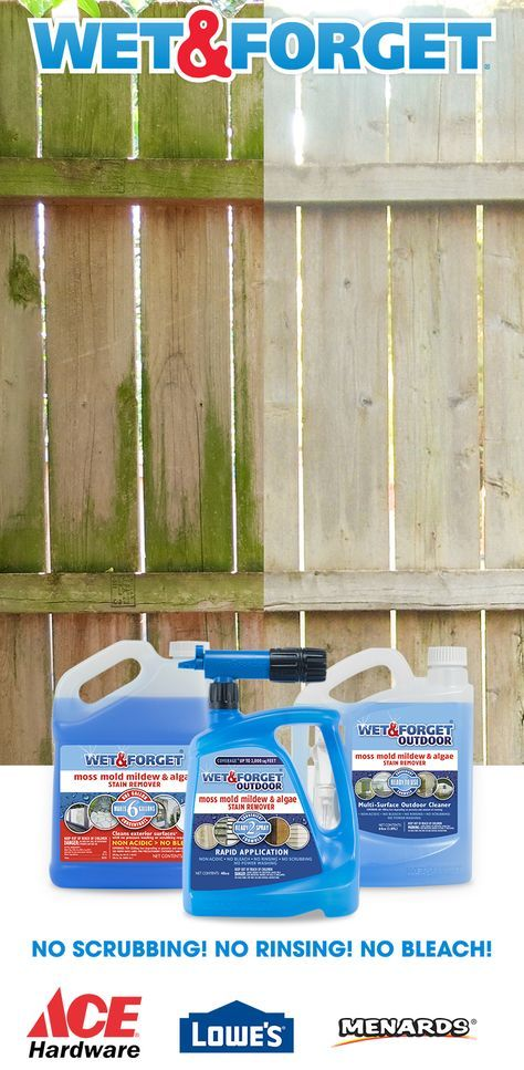 Easily Clean Virtually Any Exterior Surface Without Any Scrubbing After Applying Wet Forget The Wind And T Outdoor Cleaning Mold And Mildew Remover Outdoor