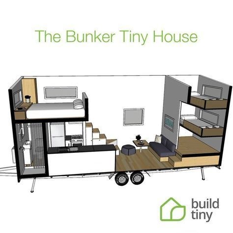 Family Friendly Tiny House Watch This Little Animation To See How We Manage To Sleep 6 People In Our New B Tiny House Layout Tiny House Cabin Tiny House Plans