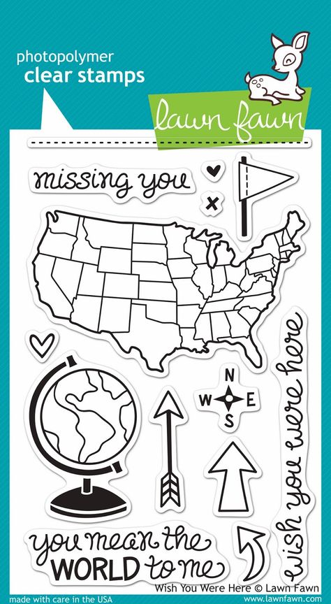 Lawn Fawn Wish You Were Here stamp set...neeeeed this! I'm in love with the US stamp...