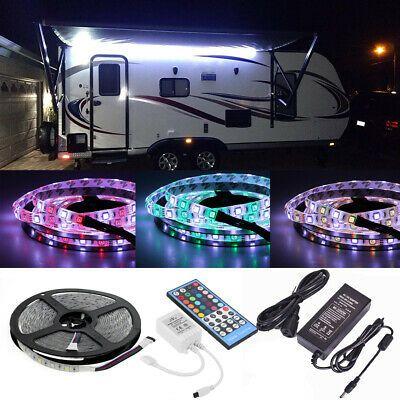 Sponsored Ebay Rv Awning Camper 12ft Rgb W Color Changing Led Strip Light Kit Dual Lights Led Strip Lighting Color Changing Led Strip Lighting