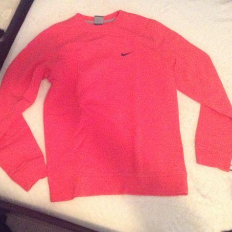 Nike sweatshirt Authentic Nike sweatshirt. Men s size small. Fits like a  long women s small or regular women s medium. Hot pink color Nike Tops  Sweatshirts ... eae792a8d