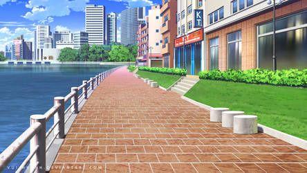City Street Day By Vui Huynh S Izobrazheniyami Zhivopisnye