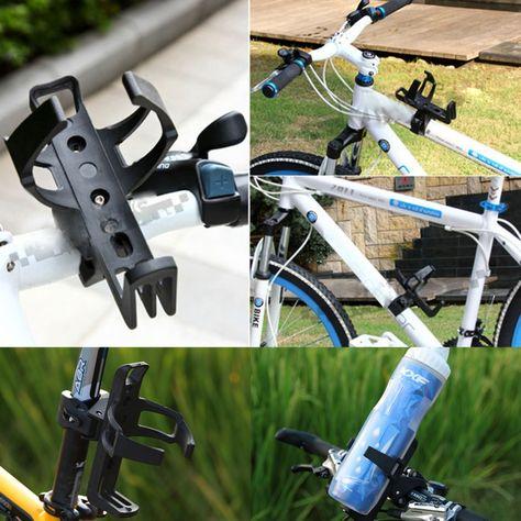 Mountain Bike Drink Cup Holder Beverage Water Bottle Handlebar Aluminum