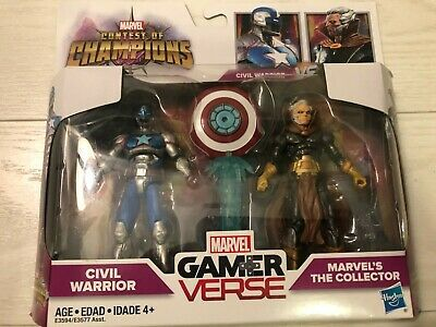 MARVEL GAMER VERSE CAPTAIN AMERICA CIVIL WARRIOR /& THE COLLECTOR FIGURE 2 PACK