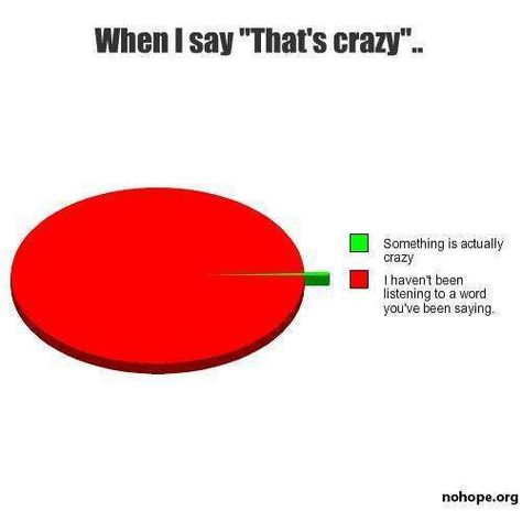 """When I Say """"That's Crazy""""-Hilarious Relatable Graphs"""