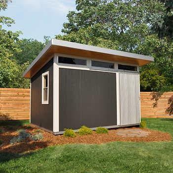 Installed Sheds By Yardline Skyline Wood Storage Shed 10 X 12 In 2020 Backyard Sheds Wood Storage Sheds Studio Shed