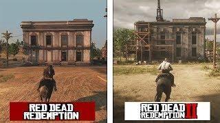Red Dead Redemption 2 New Austin Map Comparison Rdr 1 Vs Rdr2 Evolution Red Dead Redemption Austin Map Evolution