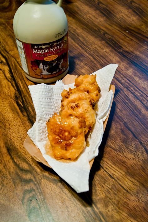 Corn Fritters with maple syrup (1912 recipe)