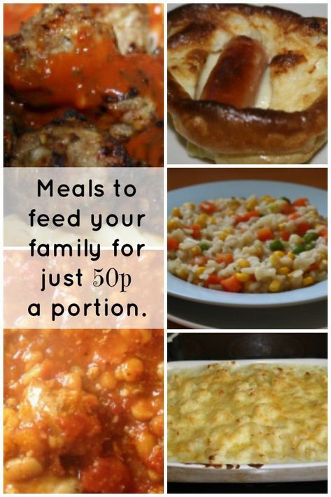 Meals to feed your family for just 50p  a portion.