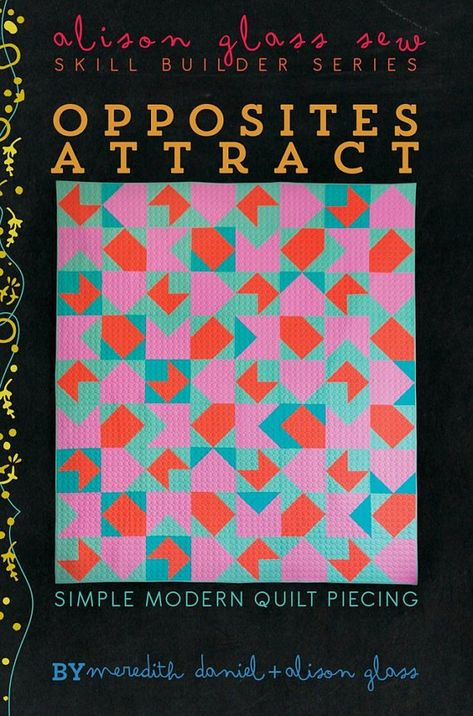Opposites Attract By Alison Glass Paper Printed Pattern Quilt
