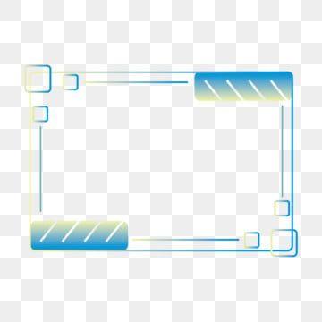 التقنية الحدود الأزرق الأصفر التدرج المستطيل عنصر لعبة المشهد التجاري العلوم والتكنولوجيا إطار أزرق Png صورة للتحميل مجانا