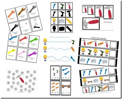FREE Tool Kit Vocabulary Words | Preschool Printables by Gwyn ...