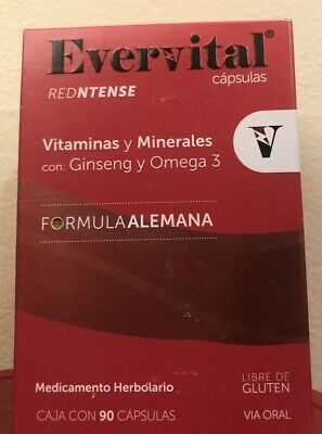 Evervital Redntense Vitaminas Y Minerales Con Ginseng Omega 3 Each Exp 3 2021 Ebay Omega 3 Make It Yourself Conditioner