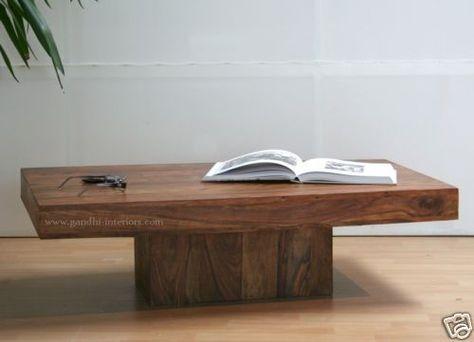 GI-2291 Design Couchtisch Massivholz Tisch Holz 90*60 furniture - au ergew hnliche schlafzimmer betten