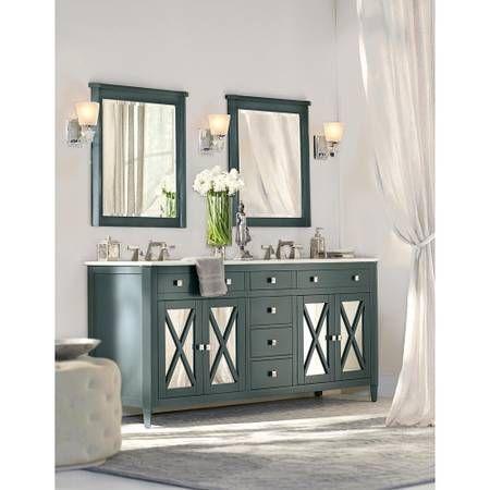 Vanity 193 Barcelona 73 Teal Blue Blue Bathroom Vanity White Sink Double Sink Bathroom Vanity