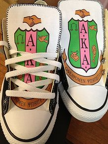 Alpha Kappa Alpha customized sneakers
