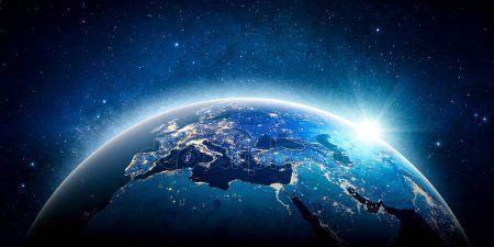 Planete Terre De L Europe Elements De Cette Image Fournie Par La Nasa Image Planete Terre Terre Fond D Ecran Art