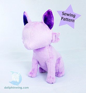 *Pattern, video and instructions are all in English language with U.S. imperial measurements.* This listing is for a digital sewing pattern to make a sitting feline stuffed animal. It can be modified to make other animals as well. Get creative and start sewing!   This is a digital PDF pattern that you can immediately download after purchase. No waiting for packages in the mail!  PDF Includes:  -Template to make your plushie -Instructions with color photos -Video Tutorial Link -The pattern does N