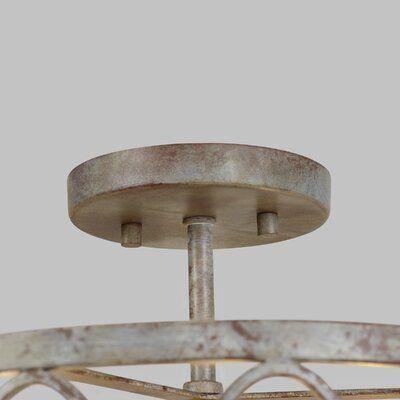 Ophelia Co Cavana 3 Light 14 Caged Drum Semi Flush Mount Birch Lane In 2020 Glass Candle Cover Semi Flush Humble Design