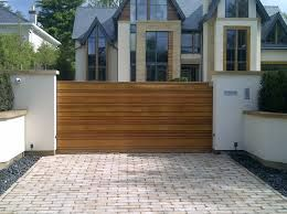 Fascinating Wooden Driveway Gate Designs Contemporary Exterior With Sliding Made From Solid Cedar Using Random Width Board Effect To