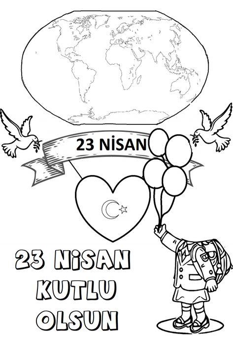 Free Printable 23 Nisan Boyama Egitimhane Ikoku