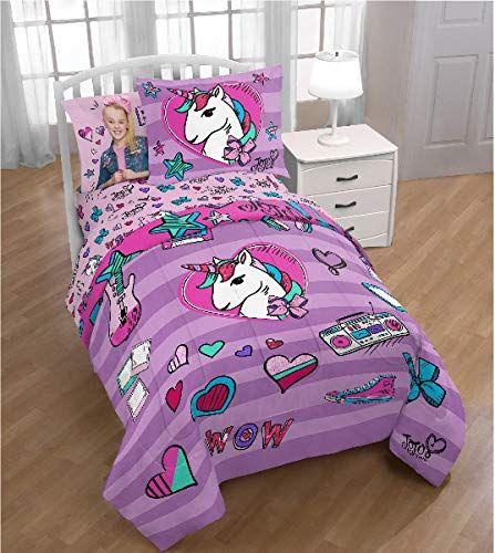 Jojo Siwa Girls Full Comforter Sheets Sham Set 6 Piece Bed In A Bag Homemade Wax Melts Kids Bedding Twin Bed Sets Bedding Sets