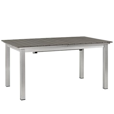 Coline Plastic Resin Dining Table Patio Table Furniture Dining