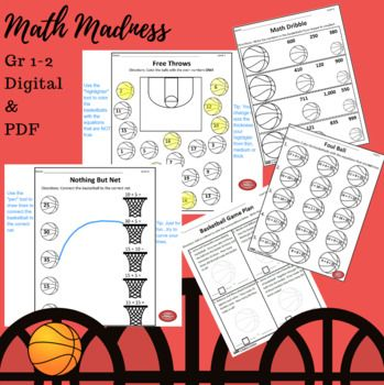 Basketball Math Madness Worksheets Digital Activity Pdf Basketball Math Math Madness Math