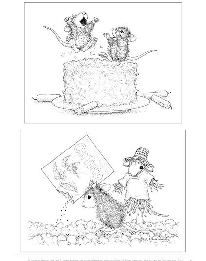 House Mouse Designs A House Mouse Colouring Book Uk Edition Volume 1 House Mouse Stamps Mouse Color Coloring Books