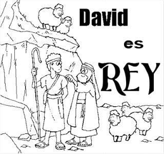 Dibujo del rey David para colorear  Dibujos Cristianos Para