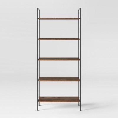 "72"" 5 Shelf Loring Ladder Bookshelf Walnut - Project 62"