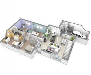maison plain-pied 4 chambres avec mezzanine au fil de l\'eau ...