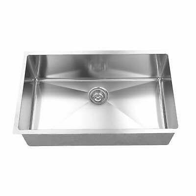 Ad Ebay Url Boann Umr3018 R15 Brushed 304 Stainless Steel 16 Gauge Grey In 2020 Single Bowl Kitchen Sink Undermount Kitchen Sinks Sink