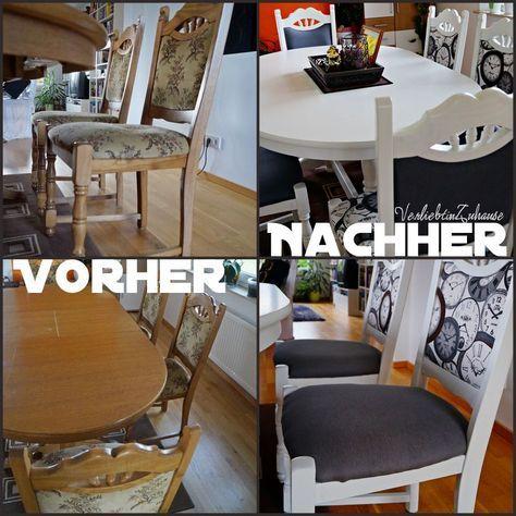 Tisch Und Alte Stuhle Neu Gestalten Und Verschoneren Streichen Lackieren Und Mit Stoff Neu Beziehen Selb Stuhl Neu Gestalten Alte Stuhle Stuhle Neu Beziehen