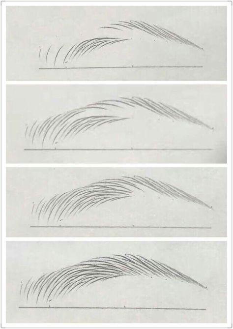 поэтапные картинки как нарисовать брови человека карандашом огромное