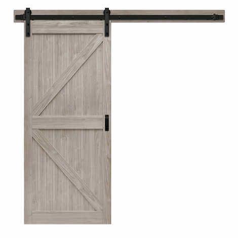 Renin 36 K Design Barn Door With Hardware Kit Easy Glide Soft Close Sliding Barn Door Hardware Interior Barn Doors Barn Style Doors