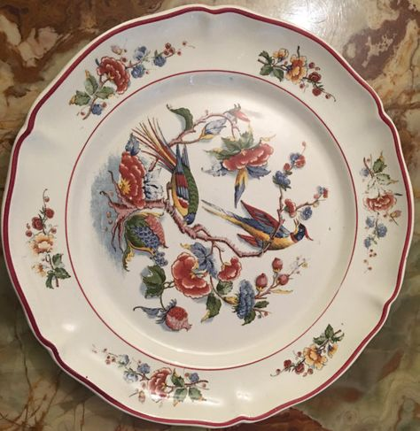 Antique Villeroy Boch Dinner Plate 10 Made In Mettlach Germany