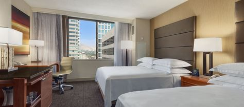 Hilton Salt Lake City Center Hotel Ut Accessible Two Queen