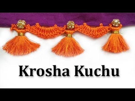 How to do Krosha / Crochet Saree Tassels for Beginners   Tutorial 2 - YouTube