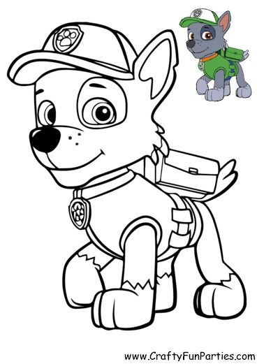 Paw Patrol Color Rocky Paw Patrol Coloring Paw Patrol Unique Coloring Pages