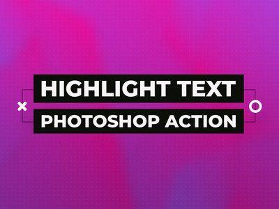Photoshop highlight text