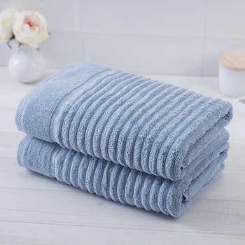 Charisma Soft Bumpy Rib 2 Piece Bath Towel Set Charisma 100