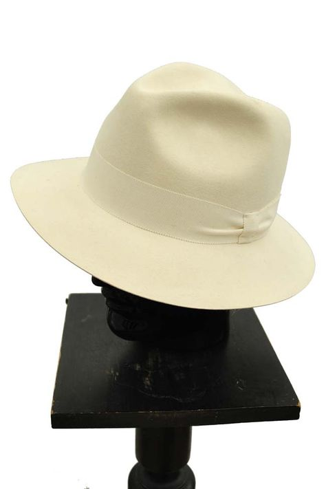 852db04f05ee2 Cream Felt  Fedora Hat by Susquehana Hat Company Cream Felt Fedora Mason Hat  56 - £44.00