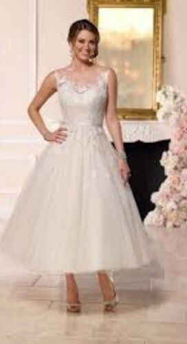 100 Best Tea Length Wedding Dresses For Older Brides 2nd Marriage Tea Length Wedding Dress Knee Length Wedding Dress Older Bride Wedding Dress