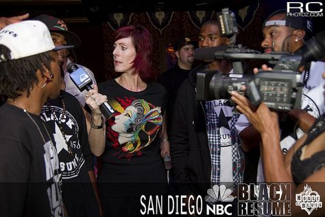 Black Resume getting interviewed by San Diego radio personality - san diego resume