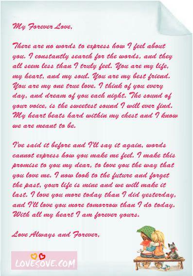 Lover Letter Samples Love Letter Sample Romantic Love Letters