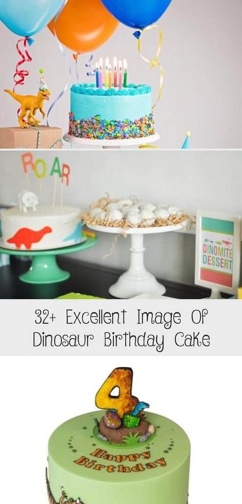 Sensational Hottest No Cost 32 Excellent Image Of Dinosaur Birthday Cake Funny Birthday Cards Online Fluifree Goldxyz