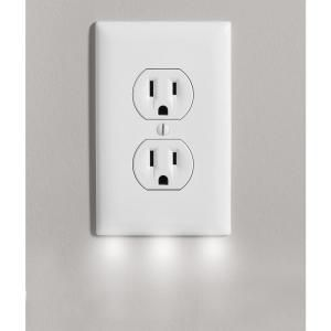 Outlet Wall Plate Cover With 3 Led Night Lights Outlet Cover With Light No Batteries And Wireless 4 Led Night Light Outlet Hallway Lighting Home Lighting