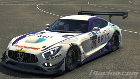 Teambrit Livery On The Mercedes Amg Gt3 In 2020 Racing Driver