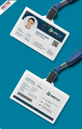 Office Id Card Design Psd Kartu Nama Kartu Desain Produk